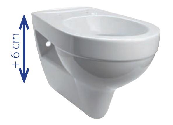 komfort wand wc tiefsp ler 6 cm erh ht mit wc sitz inkl. Black Bedroom Furniture Sets. Home Design Ideas