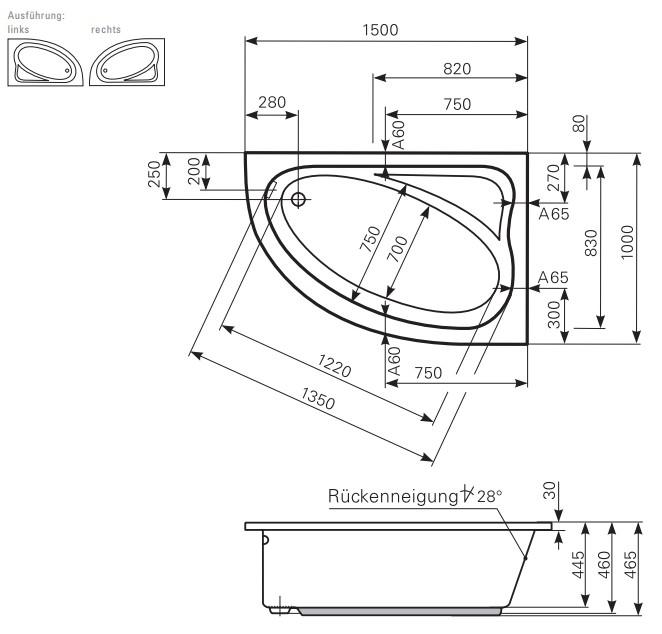 Relativ Mauersberger Eck-Badewanne Aspera Eckwanne verschiedene SO85