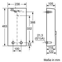 Siemens Electronic plus Durchlauferhitzer elektronisch 11/13 15/18 21/24 oder 24/27 kW