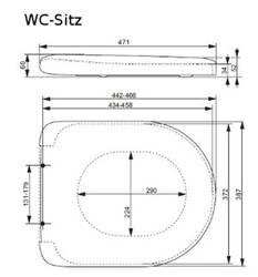 TOTO WC-Sitz VC100N mit Absenkautomatik Toilettensitz
