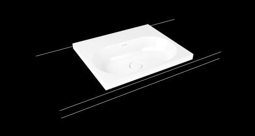Kaldewei centro aufsatzwaschtisch waschbecken aus stahl for Kaldewei waschbecken