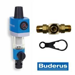 Buderus filtre à eau à contre-courant régulateur de pression et manomètre – Bild 1
