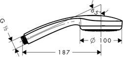 Hansgrohe Logis mitigeur 3 trous pour montage sur bord de baignoire # 71310000 – Bild 7
