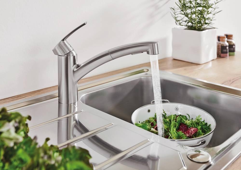 Grohe Eurosmart Küchenarmatur Mit Herausziehbarer Spülbrause Unidomo