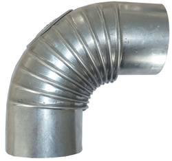 Abgasrohr aus Aluminum 90°-Bogen mit Prüföffnung 110 mm