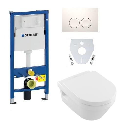 Geberit Duofix Vorwandelement + Villeroy & Boch Architectura Combi-Pack  Wand-WC Sitz Drückerplatte Schallschutz UD-41 | UNIDOMO