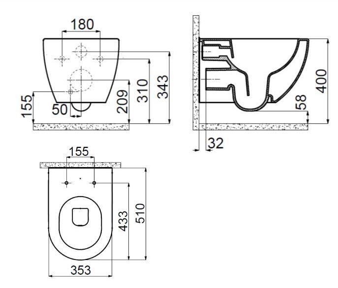 Alpinwei/ß GROHE Rapid SL WC Taille Unique