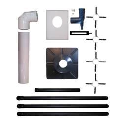 [Paket] Atec Abgas Paket DN 80/125 Brennwert Schornstein Kamin Abgas Rohr System starr