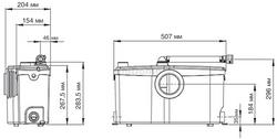 SFA Sanibroyeur Sanibest Pro ume pompe pour toillette WC – Bild 3