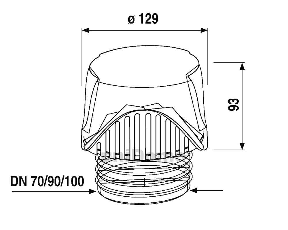 Extrem ABU Abwasser Rohrbelüfter Ventilair DN 30/40/50 oder DN 70/90/100 MR51
