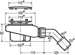 Viega Tempoplex kit de déchets pour receveur de douche plat avec drain Ø 90 mm  # 575601 – Bild 2