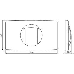 SANIT plaque de commande L start / stop rinçage , blanc alpin , également pour CORNAT. – Bild 2