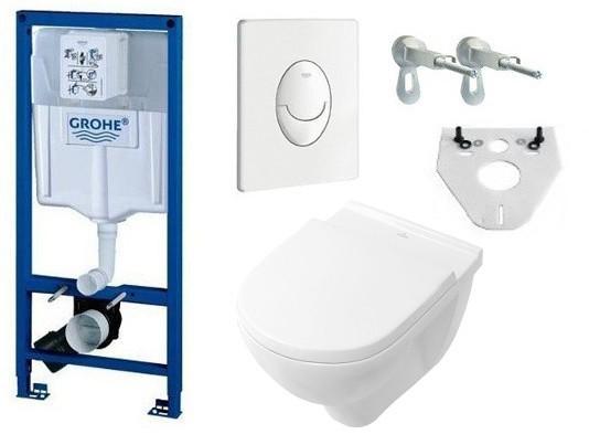 Grohe Rapid SL Vorwandelement + Villeroy & Boch O.Novo DirectFlush Wand-WC  + Sitz mit Absenkautomatik   UNIDOMO